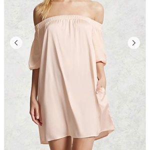 Forever 21 off the shoulder mini dress